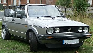 Volkswagen MK1 Golf Karmann convertable